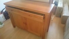 Solid oak sideboard for sale, 2 drawers and storage cupboard with shelving underneath. VGC.