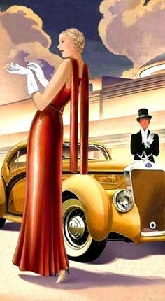Art Deco Blonde, Car, Gent