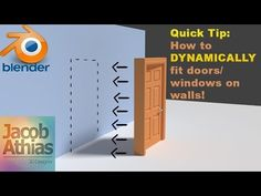 How to dynamically fit doors/windows on walls - BlenderNation