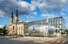 atelier filippini constructs city hall of perforated steel in france - designboom | architecture