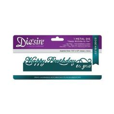 Crafter's Companion Die'sire Large Format Edge'ables - Happy Birthday To You