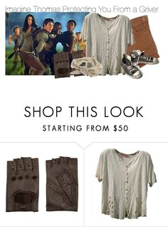 """""""Imagine Thomas Protecting You From a Griver"""" by fandomimagineshere ❤ liked on Polyvore featuring AGNELLE, Miss Selfridge, Converse, women's clothing, women's fashion, women, female, woman, misses and juniors"""