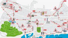 Recorregut Marató de Barcelona Recorrido Maratón de Barcelona