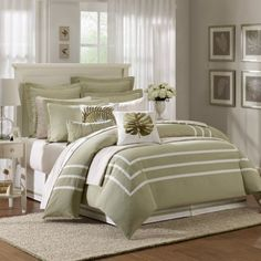 Hampton Hill Bedding Sets Huntington Point Green Queen Comforter Set