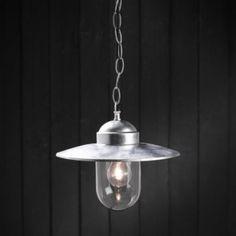 Nordlux Luxembourg 1 Light Pendant in Galvanized Steel