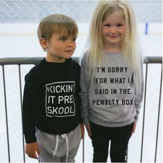 unisex Gender neutral Im Sorry for What I Said in the Penalty Box. Toddler Girl Outfits, Baby & Toddler Clothing, Boy Outfits, Boy Clothing, Infant Toddler, Clothes, Baby Equipment, Gender Neutral Baby, Sustainable Clothing