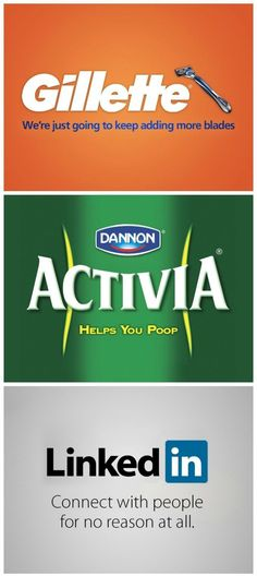 Brands really speak to people. As a marketeer you reach a sweet point, when someone bothers to make fun of your brand. I joined Danone in 2008, and worked with both Activia and Actimel. We never got to use this tagline, though we might have had similar jokes internally.