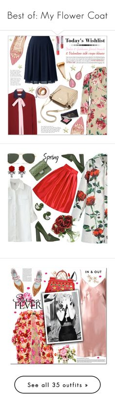"""""""Best of: My Flower Coat"""" by shaneeeee ❤ liked on Polyvore featuring Dolce&Gabbana, Valentino, Lands' End, Lucy Choi London, Charter Club, Martha Stewart, Disney, MAKE UP STORE, WithChic and Tory Burch"""