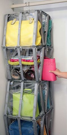 OMG- must have!!!!    IGLU for handbag & shoe storage, closet organization, purse storage