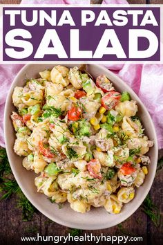 Chicken Pasta Recipes, Healthy Pasta Recipes, Healthy Pastas, Lunch Recipes, Summer Recipes, Seafood Recipes, Healthy Tuna, Healthy Food, Tuna Salad Pasta