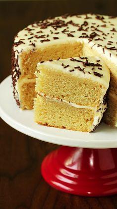 Eggless Vanilla Cake Recipe, Eggless Desserts, Eggless Recipes, Eggless Baking, Homemade Cake Recipes, Baking Recipes, Snack Recipes, Pudding Desserts, Vanilla Cupcakes