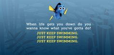 Just Keep Swimming :: The Best Dory Quotes | Oh My Disney