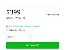 Confusion: M3D's Micro 3D Printer Price Discounted - Or Not? #3DPrinting