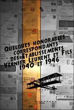 Etablissements Vernier-Leurent, Roubaix, Nord, France - Quelques enveloppes de correspondance - Années 1940 et 1946