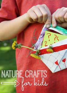 Nature Crafts for Kids to get them out of the house and exploring the backyard!