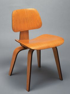 #EAMES Side Chair,  prototype 1946; manufactured 1950s,   laminated birch plywood,  Designed by Charles and Ray Eames for Herman Miller, Inc., Zeeland, Michigan,  Gift of Jim and Marge Krum, Hilton Head, South Carolina, 98.24.2