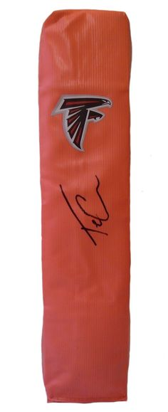 Tevin Coleman signed Atlanta Falcons full size football touchdown end zone pylon w/ proof photo.  Proof photo of Tevin signing will be included with your purchase along with a COA issued from Southwestconnection-Memorabilia, guaranteeing the item to pass authentication services from PSA/DNA or JSA. Free USPS shipping. www.AutographedwithProof.com is your one stop for autographed collectibles from Atlanta sports teams. Check back with us often, as we are always obtaining new items.
