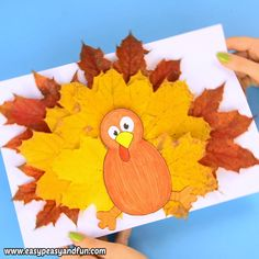 out our funky looking turkey leaf craft template and let's make this w. - Fall Crafts for Kids - Print out our funky looking turkey leaf craft template and let's make this w. - Fall Crafts for Kids - Fall Crafts For Toddlers, Thanksgiving Crafts For Kids, Easy Christmas Crafts, Toddler Crafts, Kids Diy, Autumn Crafts For Kids, Kindergarten Thanksgiving Crafts, Fall Arts And Crafts, Easy Halloween Crafts