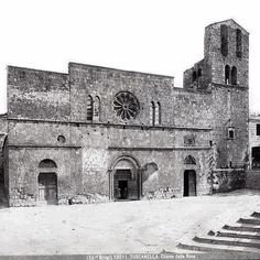 Historic shot of Tuscania circa 1900 or as it was called then 'Toscanella' or little Tuscany. #Tuscania #Toscanella #history #travel #travelgram #tour #italy #maremma #tuscia #picture #old