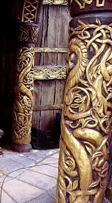 Edoras -Land of the Horse Lords in Tolkein's Lord of the Rings, loosely inspired by Nordic/Celtic aesthetic Viking House, Viking Age, The Middle, Middle Earth, Golden Hall, J. R. R. Tolkien, Light Film, Shield Maiden, Into The West