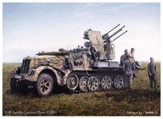 GERMAN Sd Kfz 71 w 20mm Flakvierling 38 Sd.Kfz.71