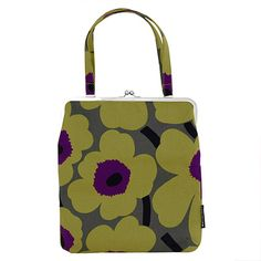 lavender & green pastel handbags | Marimekko Unikko Green/Purple Raami 2 Bag - Click to enlarge
