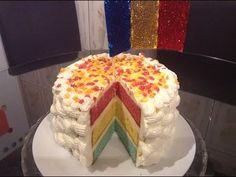 """""""Tort 1 Decembrie/  Tort cu crema de vanilie si frisca"""" - YouTube Cake, Youtube, Desserts, Food, Kitchens, Tailgate Desserts, Deserts, Kuchen, Essen"""