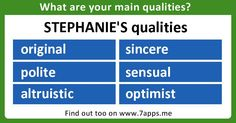 Find out what are your main qualities!