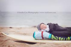 Newborn Baby on Surfboard  http://www.studiocee.com