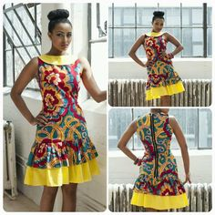 Ankara Short Gown Styles 2015 : Hey My lovely Peoples hope you are doing great over here. we are still on Ankara styles, we have no choices Ankara dresses African Print Dresses, African Fashion Dresses, African Dress, African Fabric, African Prints, Ghanaian Fashion, African Inspired Fashion, African Print Fashion, Africa Fashion