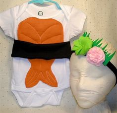 O M G. sushi halloween costume+wasabi/ginger headband. i DIE
