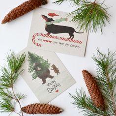 Schön illustrierte Postkarten aus Recyclingpapier und 6 % Grasanteil Gras, Place Cards, Merry, Place Card Holders, Illustration, Xmas Cards, Postcards, Packaging, Dekoration