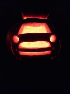 Mini car shaped pumpkin