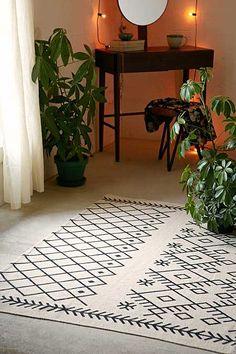 Printed Boucherouite Rug