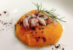 Purea di zucca con calamaretti e caffè | Food Loft - Il sito web ufficiale di Simone Rugiati
