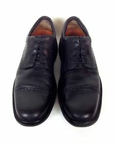 Clarks Shoes Leather Black Comfort Lace Up Athletic Loafers Unstructured 10 5 M   eBay
