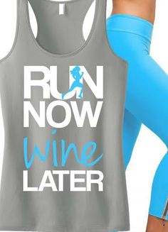 Perfect for #Running and #Working #Out! Featuring a RUN NOW WINE LATER Tank. By NoBullWomanApparel, $24.99 on Etsy. Click here to buy https://www.etsy.com/listing/183822939/run-now-wine-later-tank-top-gray-with?ref=shop_home_active_13