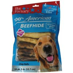 """Pet Factory 78117 Assorted Flavored (Beef & Chicken) Chip Rolls 5"""" 18 Pack. Made in USA - You can click on the image for additional details. (This is an affiliate link and I receive a commission for the sales)"""