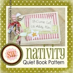 Nativity Quiet Book (8 pages) by Shelley Wallace pattern Pdf $8.50 on Etsy at http://www.etsy.com/listing/61800079/pattern-for-nativity-quiet-book-digital?ref=related-0