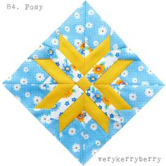 verykerryberry: The Farmer's Wife QAL blocks 83 and 84, Poppy and Posy