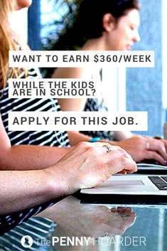 Want to work online while the kids are in school? This company's hiring right now -- and will pay you $15/hour to work from home. - The Penny Hoarder http://www.thepennyhoarder.com/work-from-home-virtual-role-player/