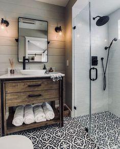 77 Fabulous Modern Farmhouse Bathroom Tile Ideas 06