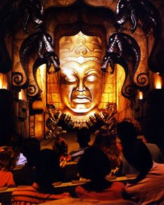 One look into the eyes of this double-dealing deity and the next stop on your itinerary will be the Gates of Doom! The Eye of Mara at the Indiana Jones Adventure at Disneyland.