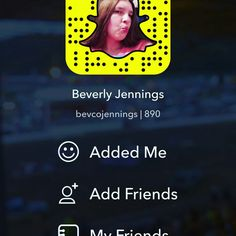 Here's my Snapchat