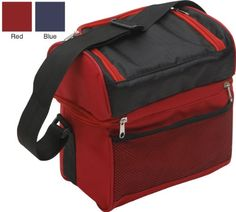 TrailWorthy Hot and Cold 2 Compartment Cooler Bag Case of 25 RedBlack ** Check this awesome product by going to the link at the image.