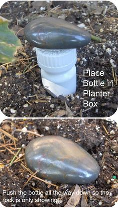 Great idea for recycling pill bottles -  hide-a-key!