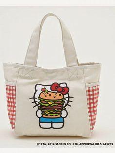 Hello Kitty Cheesburger Picnic Tote Bag
