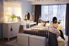 Κρεβάτι Leirvik. LOVE this so much! the bed with the dresser and dressing table is fab!
