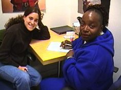 A tutor-student pair enjoy their lesson at the @San Francisco Public Library  in 2005. They were featured in the 2006 CLLS flyer of service. in 2004/2005 alone, the program helped over 100,000 Californians, distributed 166,197 free books, and generated 768,456 volunteer hours. Click through to download & read the 2006 CLLS flyer.