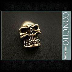 Skull Concho Brass  WILD HEARTS Leather&Silver (ID cc2848)  http://item.rakuten.co.jp/auc-wildhearts/cc2848/